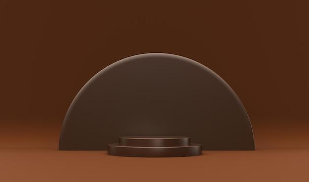 Chocoladepodium voor productsamenstelling