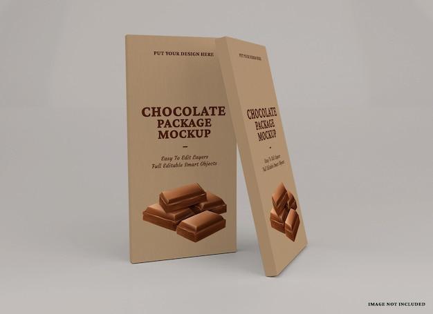 Chocoladereep pakket mockup ontwerp geïsoleerd