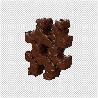 Chocoladesymbool naar links gedraaid