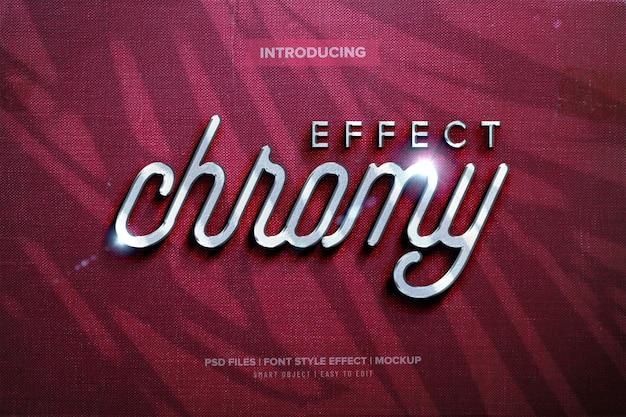Chrome premium lettertype-effect