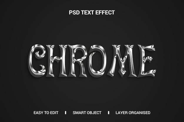 Chrome-teksteffect op zwarte achtergrond