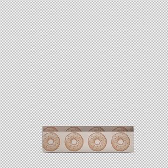 Ciambelle 3d isolati rendono