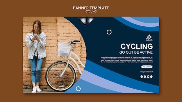 Ciclismo salir estar activo plantilla de banner