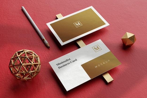 Cierre en elegante maqueta de tarjeta de visita
