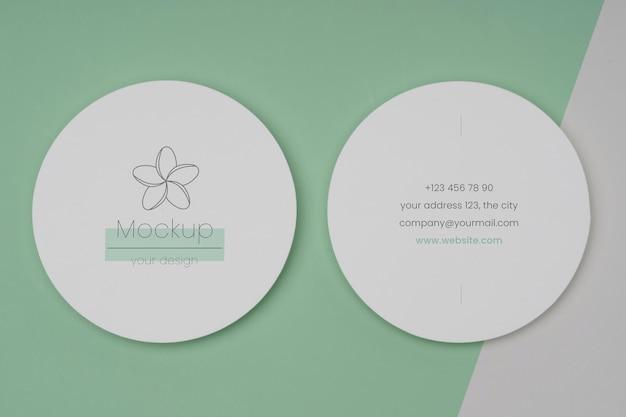 Cierre en maqueta de diseño de volante circular