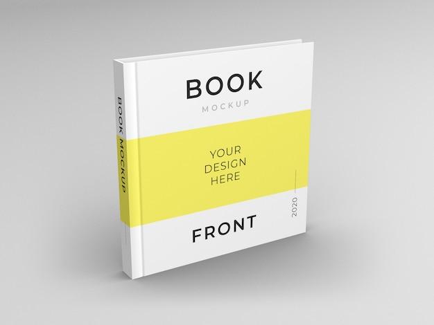 Cierre en maqueta de portada de libro cuadrada