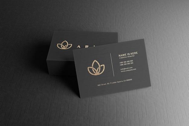 Cierre en maqueta de tarjeta de visita de lujo