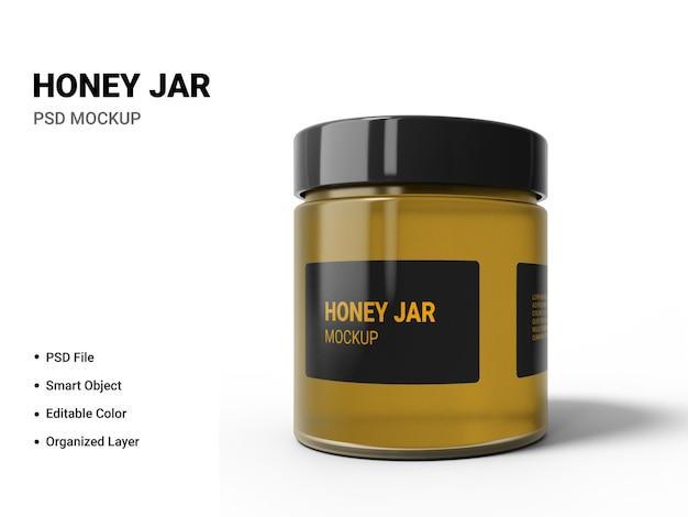 Cierre en maqueta de tarro de miel aislado