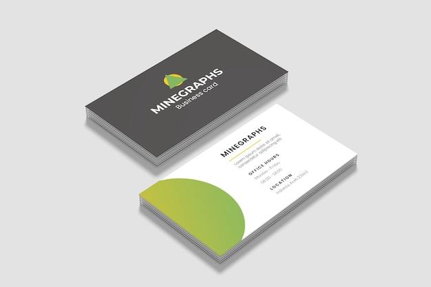 Cierre de pilas de maquetas de tarjetas de presentación