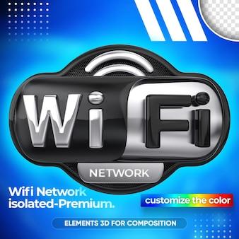 Cierre en red wifi diseño de render 3d