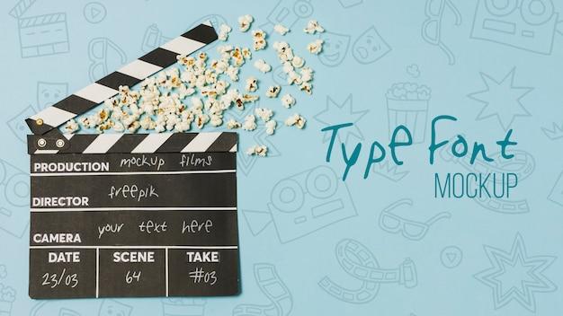 Cinema arrangement met achtergrondmodel