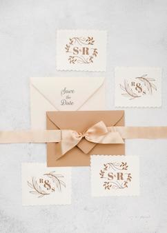 Cinta de maqueta de concepto de boda