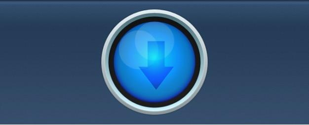 Circular azul botón descargar