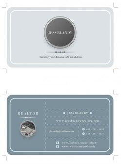 Círculos y líneas en una tarjeta personal en grises