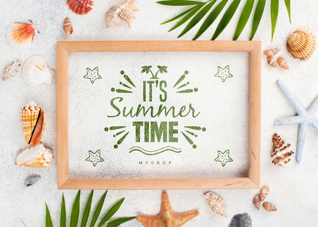 Cita de verano de marco de maqueta