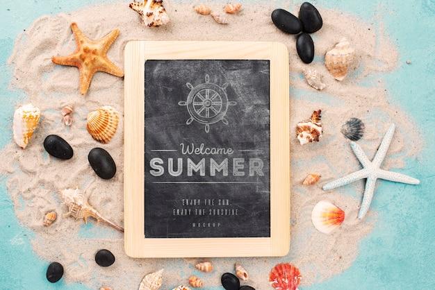 Citaat met nautische zomer op schoolbord