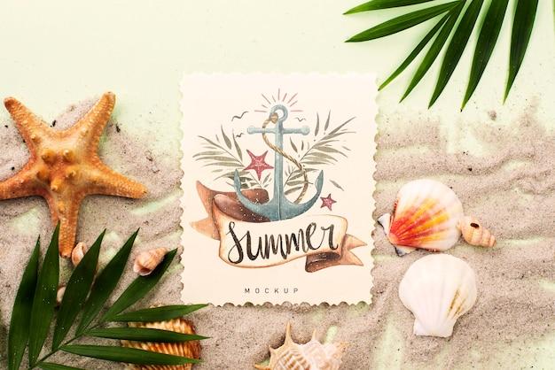 Citaat met nautische zomermodel