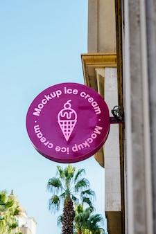 Città del gelato del segno del modello
