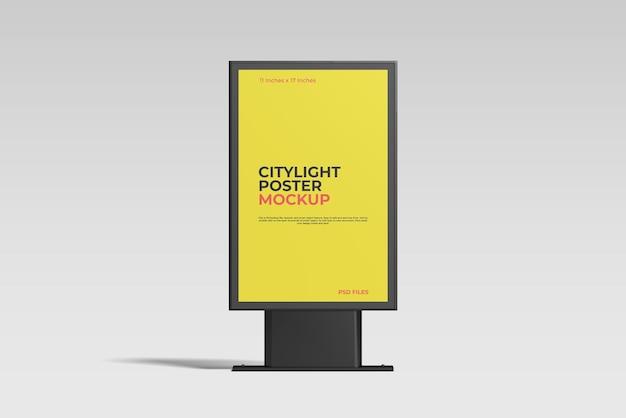 Citylight-postermodel met bewerkbare achtergrondkleur