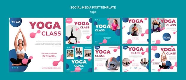 Clase de post yoga en las redes sociales