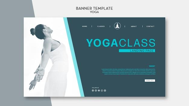 Clase de yoga y plantilla de banner de baile de mujer