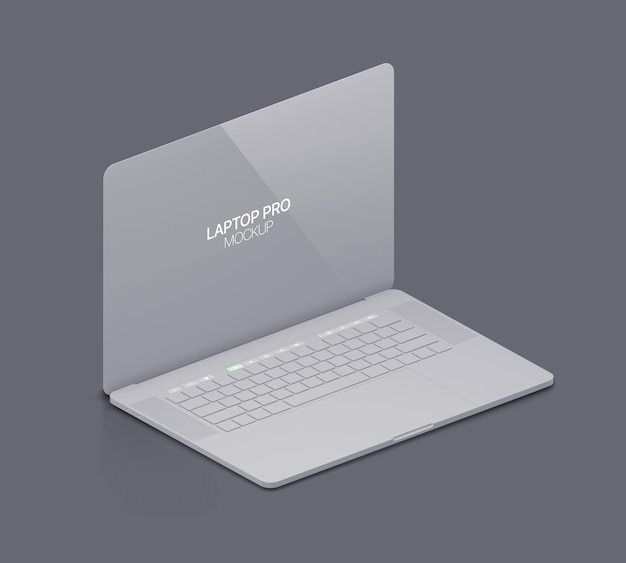 Clay laptop mockup laptop