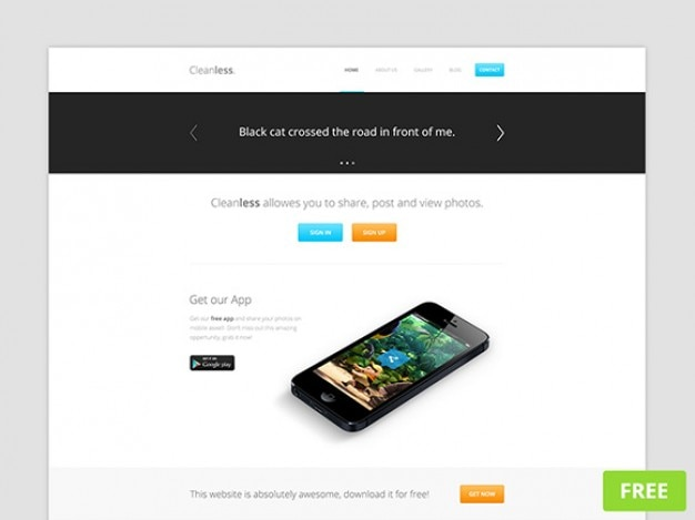 Cleanless psd website template | freebiesbug