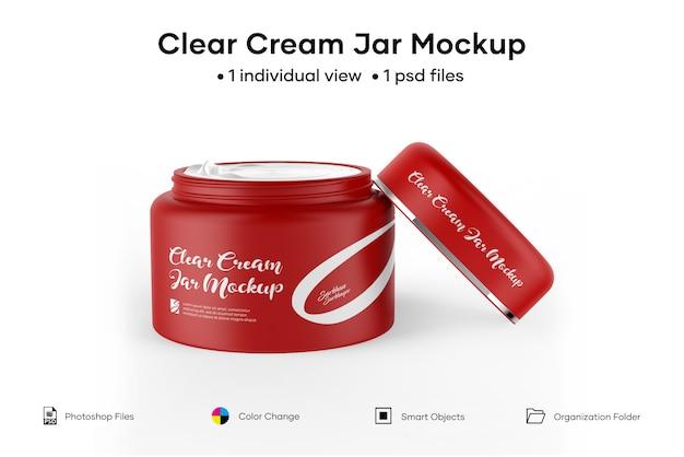 Clear cream jar mockup