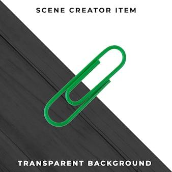 Clip de metal para objetos transparente psd