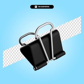 Clip de papel 3d render ilustración aislada