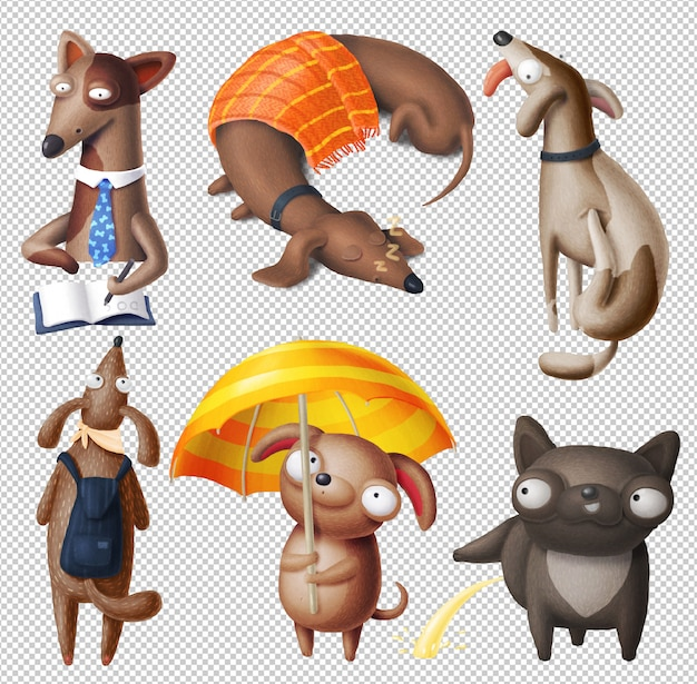 Clipart di cani dei cartoni animati