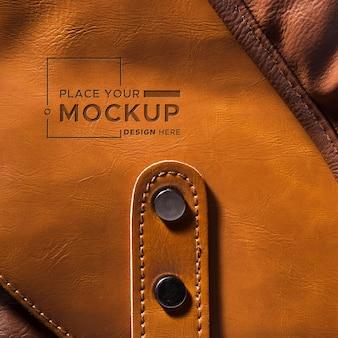 Close-up de cuero marrón