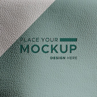 Close-up de cuero verde azulado