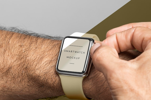 Close-up hand dragen horloge
