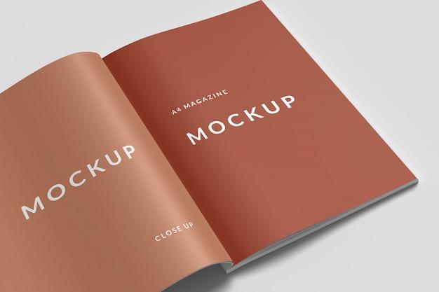 Close-up magazine mockup