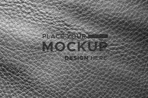 Close-up de material de cuero negro