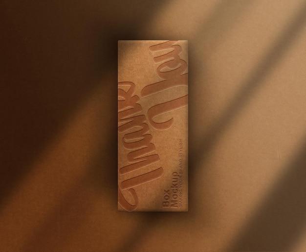 Close-up mockup voor enkele dozen