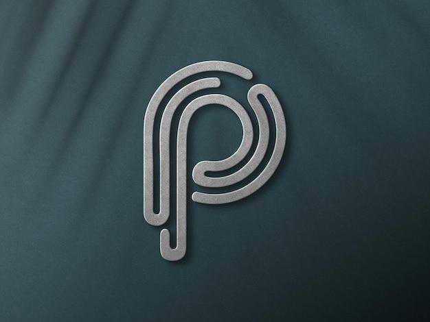 Close-up op 3d-logo mockup-ontwerp