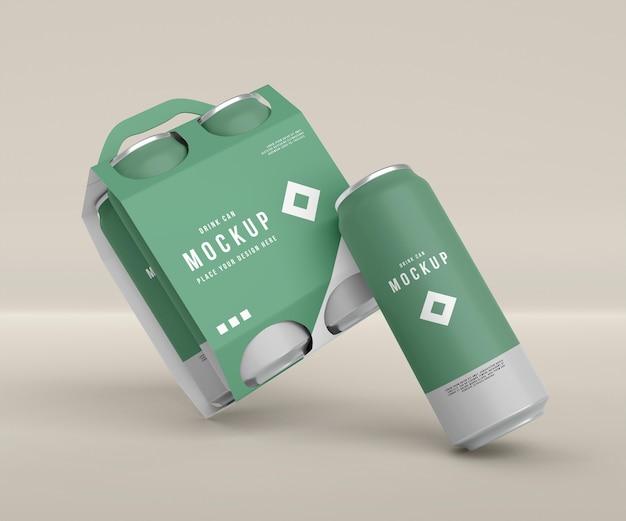 Close-up op blikverpakkingsmodel