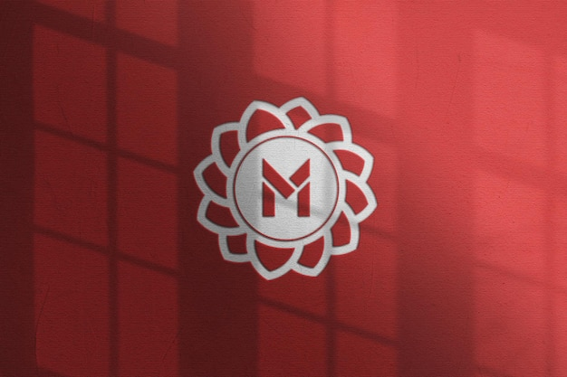 Close-up op boekdruk logo mockup-ontwerp