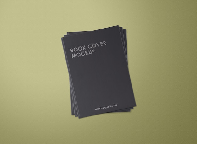 Close-up op boekomslag mockup geïsoleerd