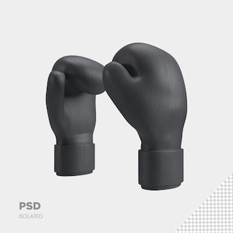 Close-up op bokshandschoenen 3d geïsoleerde premium psd