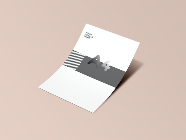 Close-up op briefpapiermodel