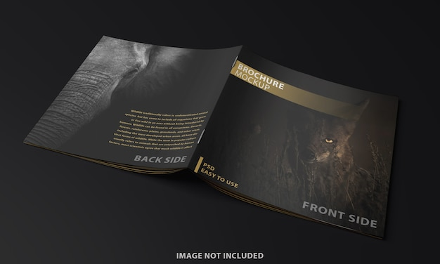 Close-up op brochure binnenpagina mockup-ontwerp