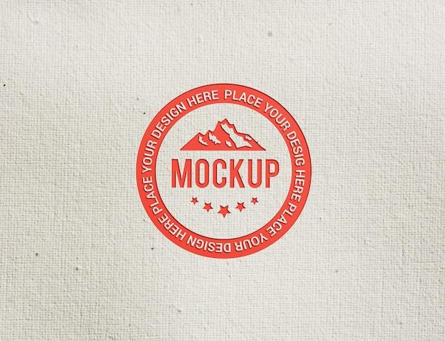 Close-up op circle logo mockup