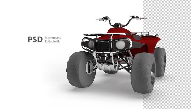 Close-up op crossmotor geïsoleerd in 3d-rendering