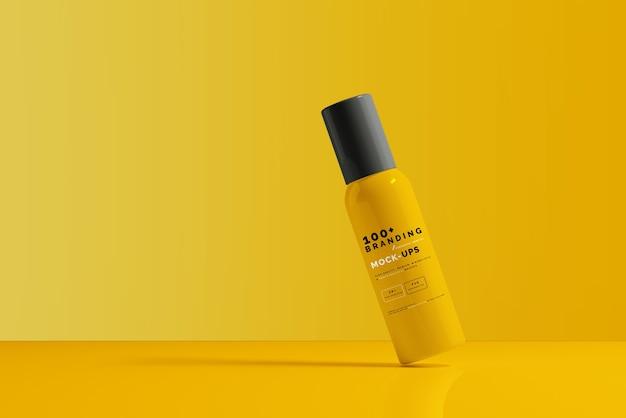 Close-up op de verpakking van cosmetische flesmodel
