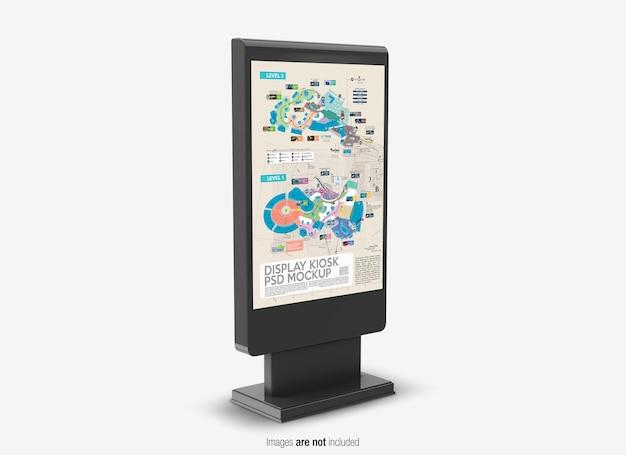 Close-up op display kiosk mockup geïsoleerd