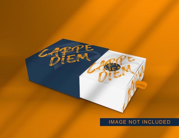 Close-up op doos verpakking mockup-ontwerp