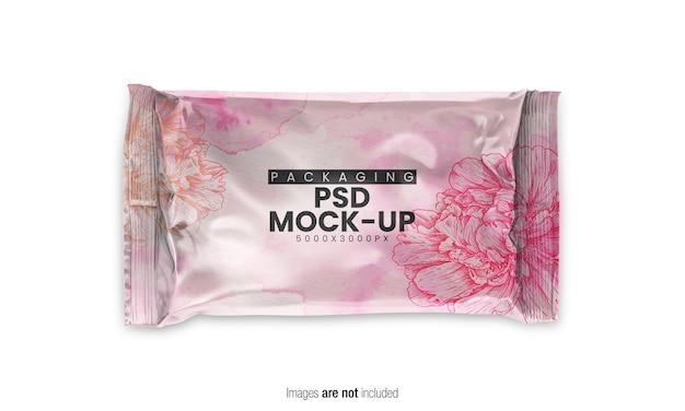 Close-up op doypack verpakking mockup geïsoleerd